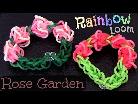 RAINBOW LOOM : Rose Garden Bracelet - How To + Giveaway   SoCraftastic