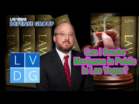 Can I smoke marijuana in public in Las Vegas?
