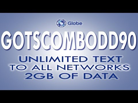 GOTSCOMBODD90 - 90 Pesos for  7 days, 2GB Data and Unli Text to All Networks