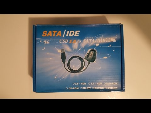 Using SATA to USB Cable