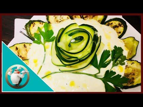 Grilled Zucchini & Yoghurt Appetizer | Albanian Zucchini Yoghurt Recipe | Kunguj Me Kos | Vegetarian