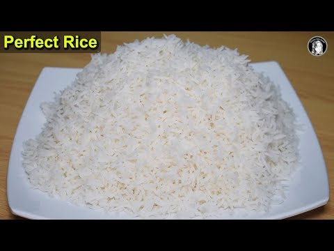 Perfect Simple Rice Recipe - White Boiled Rice for Biryani - Kitchen With Amna