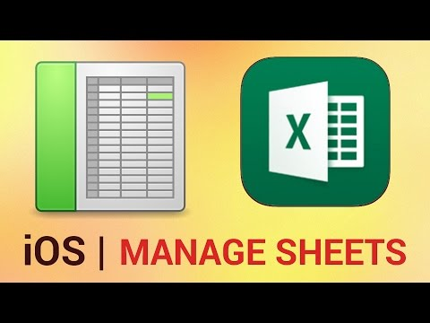 How to Manage Sheets in Excel for iPad