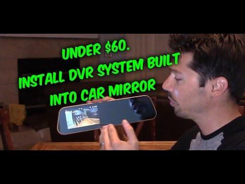 How to install a backup camera - dash cam car rearview mirror DVR review