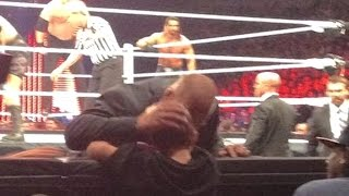 Triple H Breaks Character to Console Crying Fan