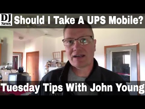 Should DJs Use UPS Back Up Power Supply For Shows | Tuesday Tips with John Young Episode 63