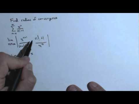 Radius of Convergence Ch8R 4b