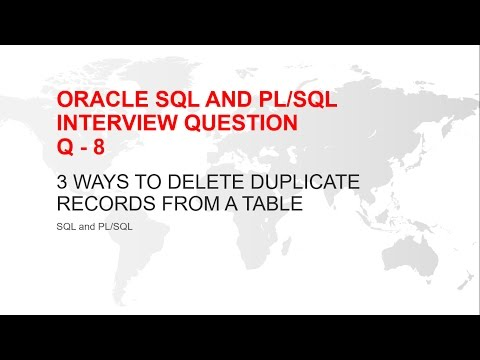 ORACLE SQL AND PL/SQL INTERVIEW QUESTION : DELETE DUPLICATE RECORDS FROM  A TABLE(3 ways)
