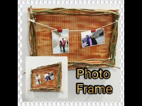 DIY- Easy Photo Frame  Making At Home| Enjoy Crafting # 34