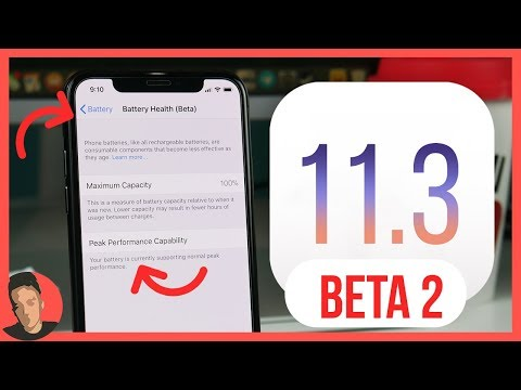 IOS 11.3 BETA 2 RELEASED! NEW BATTERY HEALTH FEATURE!