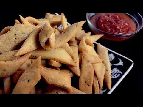 How to make Nimki | Namkeen Recipe | Tea time snack  |  - Yummy Food World🍴122