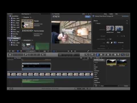 Hvordan man laver et mundingsglimt til et pistolskud i Final Cut Pro X