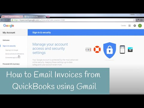 How to Email Invoices from QuickBooks using Gmail