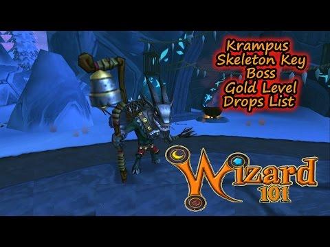 Wizard101 Krampus Christmas Gold Key Boss Drops List