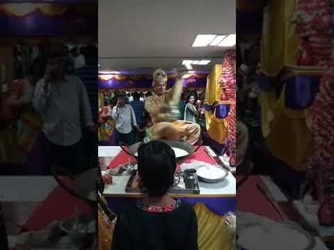 Amazing Rolling Hot Badam Milk Shake in Indian Marriage Reception
