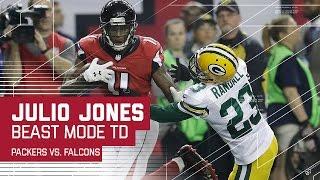 Julio Jones Beast Mode 73-Yard TD! | Packers vs. Falcons | NFC Championship Highlights