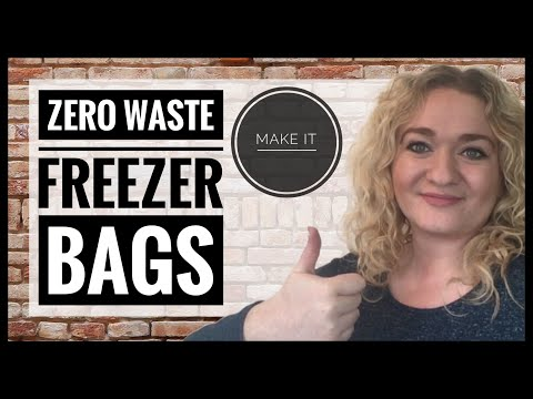 How To Make Zero Waste Freezer Bags - Plastic Free Freezer Containers - Zero Waste Kitchen Swaps