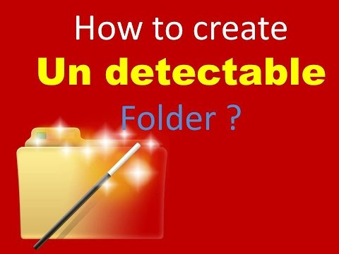 how to search hidden folders undecteable