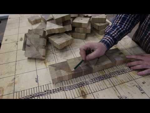 Making Chaotic pattern end grain cutting board from scrap wood