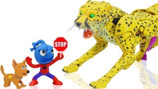 TINY COSTUME SPIDERMAN MEETS CHEETOR 💖 CLAY MIXER Play Doh Stop Motion