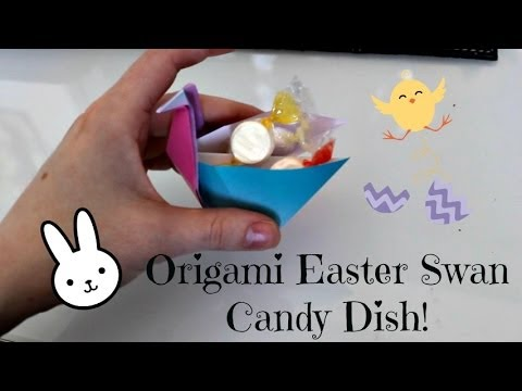 How to Make an Origami Swan Candy Dish!