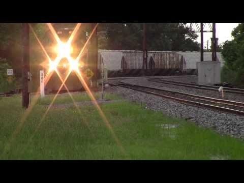 6/30/2013 Amtrak SB Palmetto just leaving station at Charleston, SC