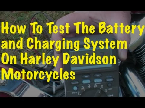 Testing the Battery and Charging System (Harley Davidson FXSTC)