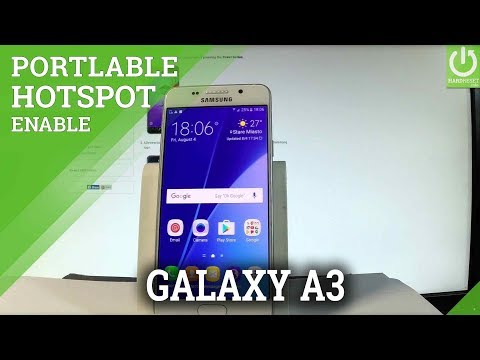 How to Enable Portable Hotspot in SAMSUNG Galaxy A3 (2016) |HardReset.info