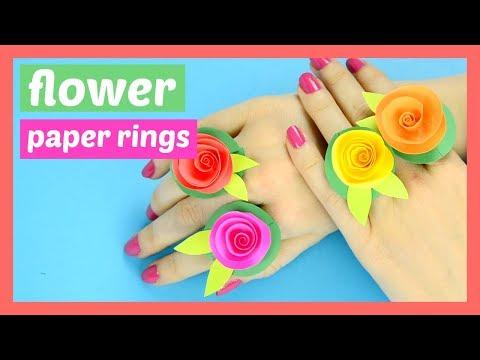 DIY Flower Paper Rings Spring Craft for Kids