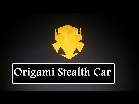 How To Make An Origami Stealth Car TZ5 - 종이접기 자동차