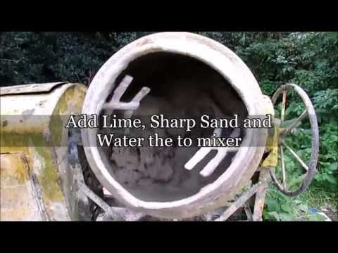 Mixing Lime Mortar - How to mix lime mortar