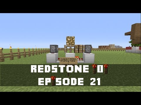 Minecraft Xbox 360 - How to make a Hidden, Retractable Crafting Table  (Simple) (Redstone Tutorial)