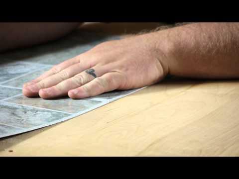 How to Lay Self-Adhesive Vinyl Tiles : Working on Flooring