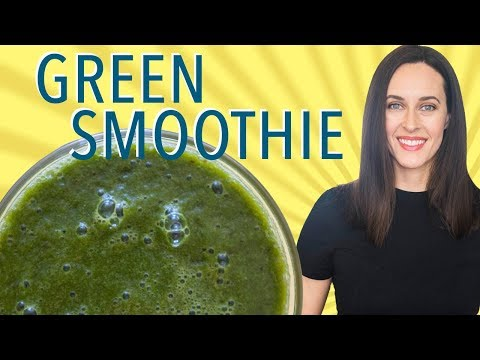Glowing Green Smoothie - How to Make a Green Smoothie That Tastes Good