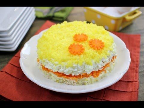 Mimoza – Layered Tuna Salad recipe