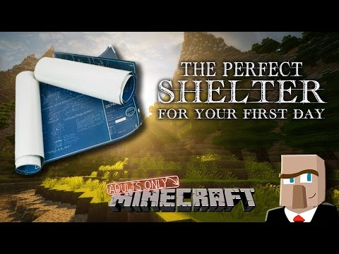 THE IDEAL SHELTER FOR YOUR FIRST DAY (In a New Minecraft World)