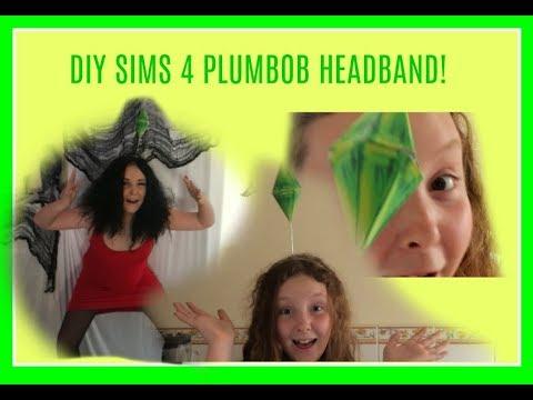 DIY SIMS 4 PLUMBOB HEADBAND! (sims halloween costume)