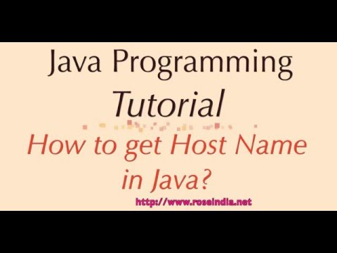 How to get Host Name in Java?