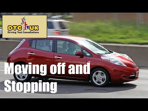 Moving off and Stopping | Online Driving Lessons | DTC-UK | Driving Test UK