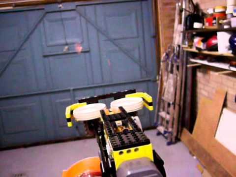 ULTIMATE LEGO Nerf Gun: Raptor ECS-35 firing test