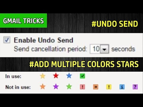 Undo Send And Add Multiple Colors Stars Features | Gmail Tricks