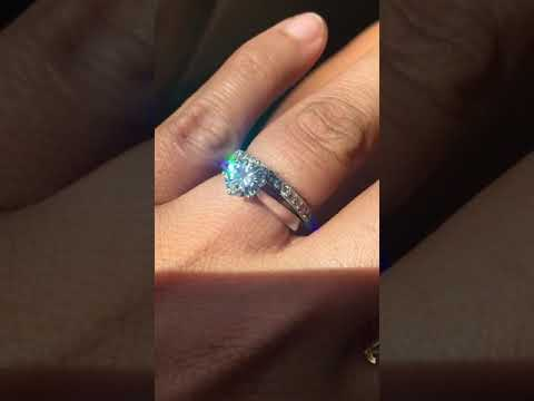 Moissanite ring after two years wear still shine and good shape no chip no scratch.