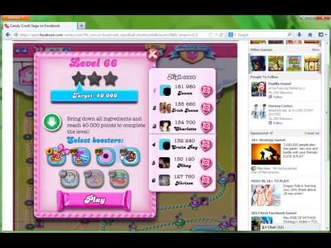 Unlimited Lives and Boosters on Candy Crush at Facebook