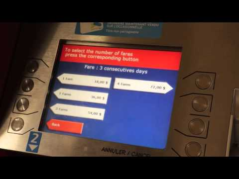 How to purchase a 3 DAY Transit Pass (English) in Montreal, Quebec