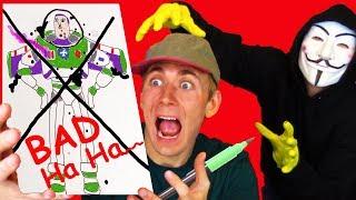 Download HACKER GETS ME BACK 😲 DIY CHALLENGE - Drawing and Coloring Page - Lightning Lane Video