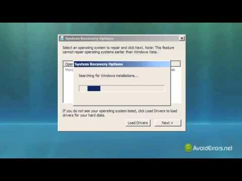 Fix BOOTMGR is missing Error in Windows Vista