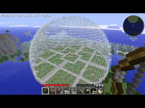Minecraft Dome (32 radius)