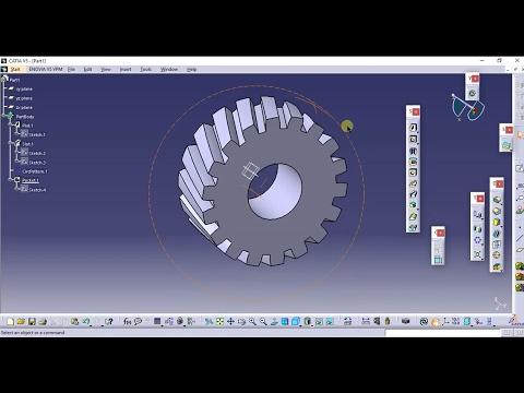 CATIA V5 Tricks: Helical gear in simple method