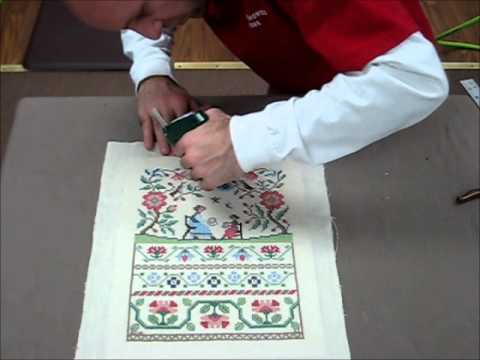 How To Frame A Cross Stitch - Demo Of Needlework Framing
