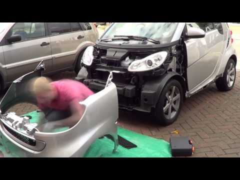 How to change the front panels of a Smart ForTwo 451
